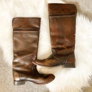 Frye dark brown riding boots